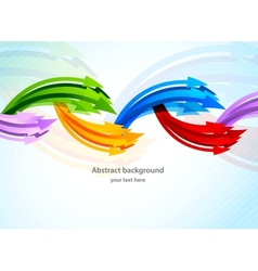 Background with colorful arrow vector