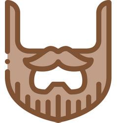 Beard mustache whisker icon outline vector