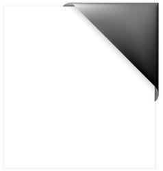 Black corner holder vector