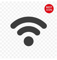 black wifi icon symbol connection vector image