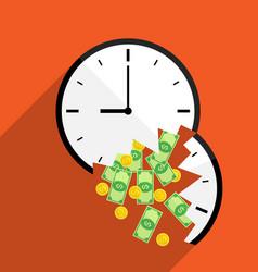 Broke time waste money vector