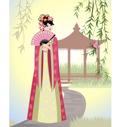 China girl vector image vector image