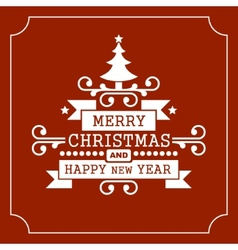 Christmas Retro Typographic Background vector image