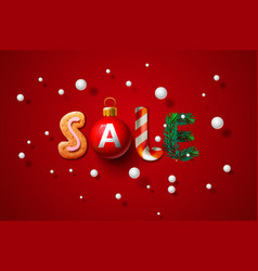 christmas sale background promotional poster vector image