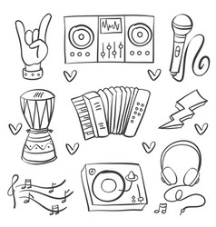 Collection stock of musical instrument art vector