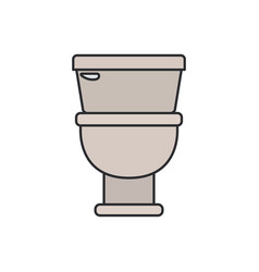 color image of toilet icon in front view vector image