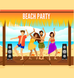 colorful beach party template vector image vector image