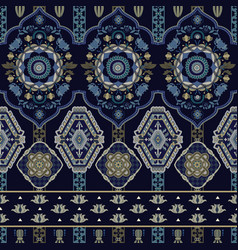 Colorful seamless paisley pattern decorative vector