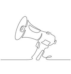 continuous line megaphone marketing promotion vector image