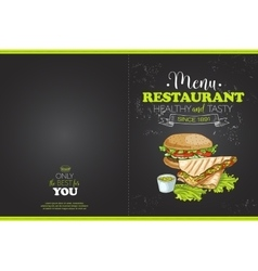 Cover color horisontal menu design vector image