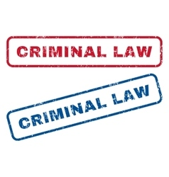 Criminal Law Rubber Stamps vector
