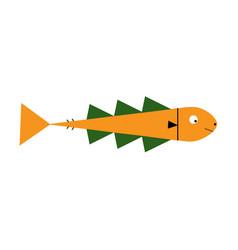 cute fish cartoon icon vector image