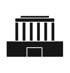 Design building and mausoleum icon set vector