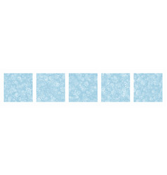 different variations snow seamless patterns set vector image