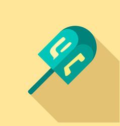 dreidel icon flat style vector image