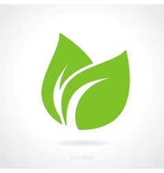 eco green leaf concept royalty free vector image rh vectorstock com leaf vector logo leaf vector art