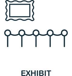 exhibit outline icon thin line concept element vector image