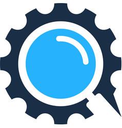 find gear logo icon design vector image