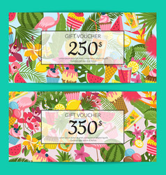 flat cute summer discount colored design vector image