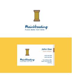 Flat piller logo and visiting card template vector