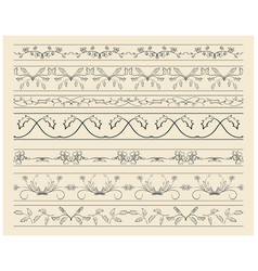 Floral ornamental borders - set of decorations vector