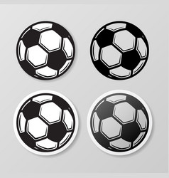 football symbol stickers set vector image