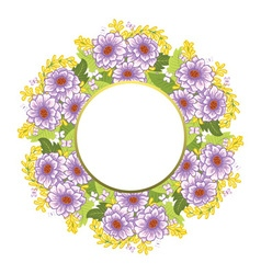Frame with floral background vector image