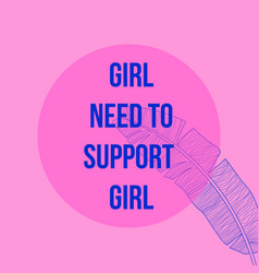 girls need to support girl feminism modern vector image