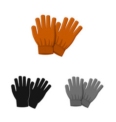 Glove and winter logo vector
