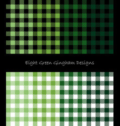 green lumberjack pattern collection vector image