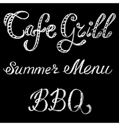 grill cafe vector image