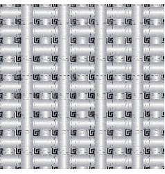 grunge check 3d greek seamless pattern vector image