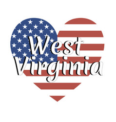 Heart shaped national flag the united states of vector