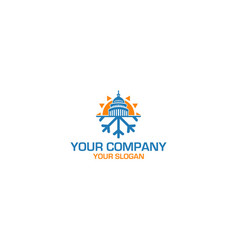 Idaho hvac logo design vector