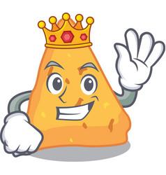 King nachos mascot cartoon style vector