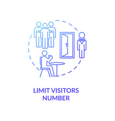 Limit visitors number concept icon vector