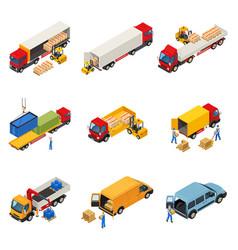 loading of goods set vector image