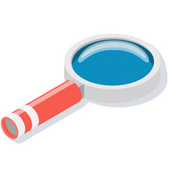 Magnifier with long handle and lens magnifying vector
