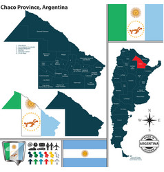 map of chaco province argentina vector image