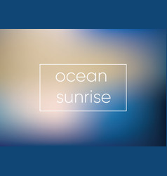 mesh blue ocean sunrise smooth abstract colorful vector image