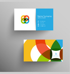 Modern business card template with flat user vector