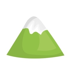 Mountains glacier isolated icon vector