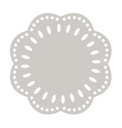 paper doily cake round napkin decorative vector image