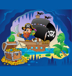 Pirate ship theme image 3 vector