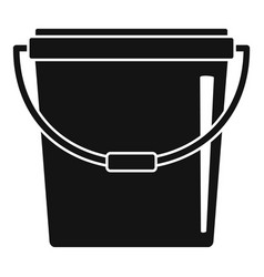 plastic bucket icon simple style vector image