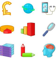 Procurement of goods icons set cartoon style vector