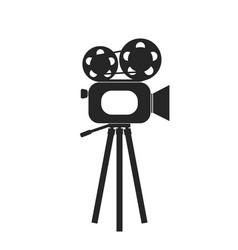 retro cinema film camera icon vector image
