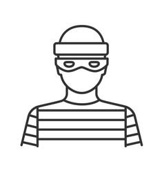 Robber linear icon vector