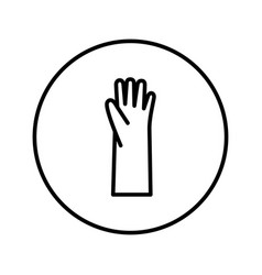 rubber gloves icon editable thin line vector image