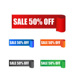 sale 50 off sticker label on white background vector image